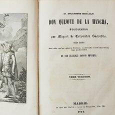 Libros antiguos: DON QUIJOTE DE LA MANCHA,FRANCISCO BONOSIO PIFERRER 1854.. Lote 176895465