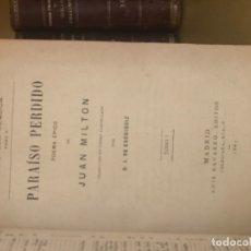 Libros antiguos: PARAISO PERDIDO. Lote 176958662