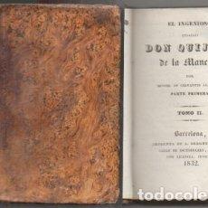 Libros antiguos: DON QUIJOTE DE LA MANCHA. TOMO II. - CERVANTES, MIGUEL DE. - A-INCOMP-369. Lote 177610318