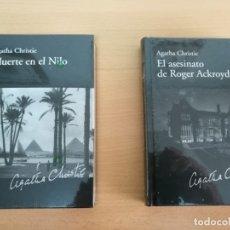 Libros antiguos: LIBRO MUERTE EN EL NILO Y EL ASESINATO DE ROGER ACKROYD AGATHA CHRISTIE. Lote 178100523