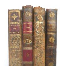 Libros antiguos: 1810 - LOTE DE 4 LIBROS ANTIGUOS DEL SIGLO XIX - DECORATIVAS ENCUADERNACIONES EN PLENA PIEL . Lote 178807897