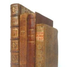 Libros antiguos: 1778 - LOTE DE 4 LIBROS ANTIGUOS DE LOS SIGLOS XVIII Y XIX - DECORATIVAS ENCUADERNACIONES EN PIEL . Lote 178808462