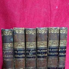 Libros antiguos: OBRA COMPLETA EN 6 TOMOS EL JUDIO ERRANTE EUGENIO SUE TRADUCIDA POR MARCOLETA 100 LAMINAS AÑO 1845. Lote 178821702