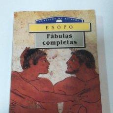 Libros antiguos: FÁBULAS ESOPO COMPLETAS - DM EDITORES. EDICIÓN 1993. Lote 178930111