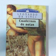 Libros antiguos: CUADERNOS DE NOTAS DE LEONARDO DA VINCI - DM EDITORES. EDICIÓN DE 1993. Lote 178931361