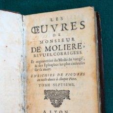 Libros antiguos: LIBRO DE 1692. OBRAS DE MOLIERE. Lote 178936467