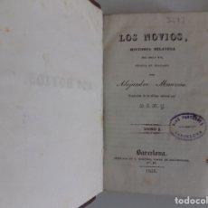 Libros antiguos: LIBRERIA GHOTICA.MANZONI. LOS NOVIOS. 4 TOMOS EN 2 VOLÚMENES.1836.PRIMERA EDICIÓN EN CASTELLANO.. Lote 179008006