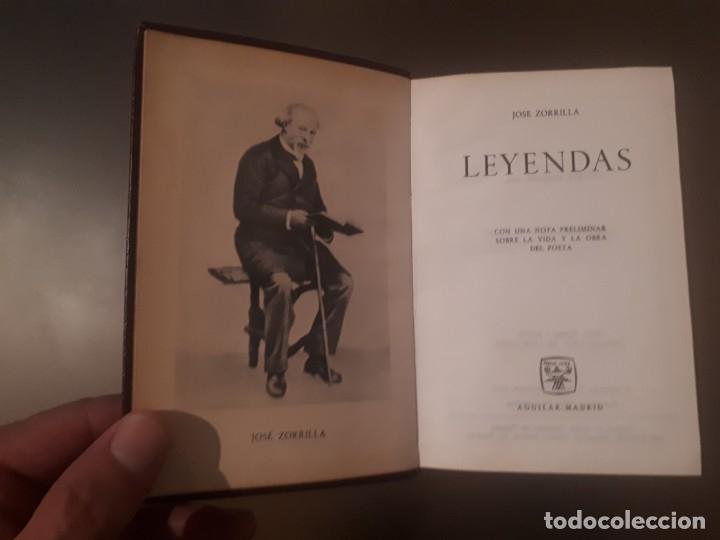 Libros antiguos: José Zorrilla - Leyendas (editorial Aguilar) - Foto 3 - 179048465