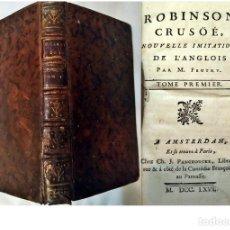 Libros antiguos: AÑO 1766: ROBINSON CRUSOE. LIBRO DEL SIGLO XVIII.. Lote 179114233