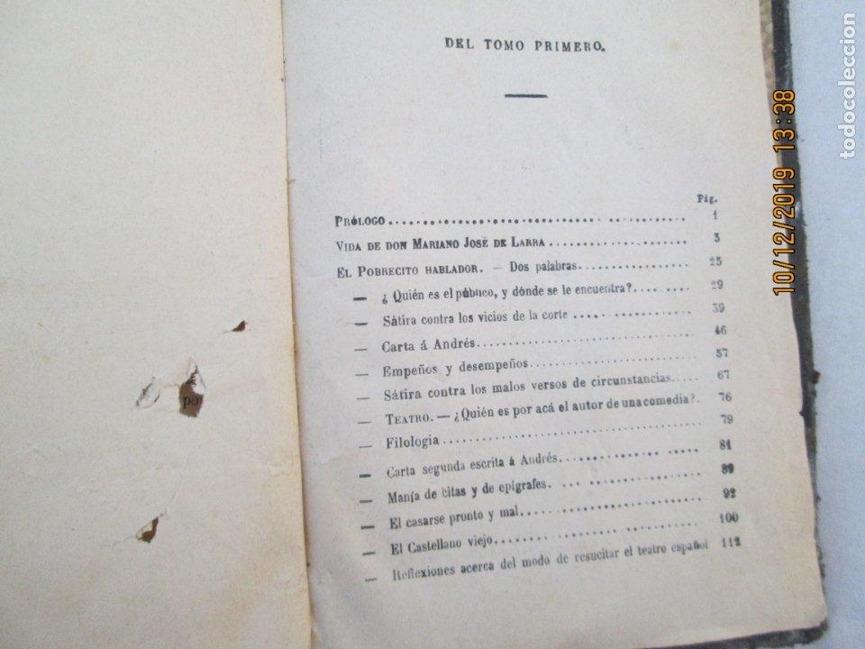 Libros antiguos: OBRAS COMPLETAS DE FÍGARO. D. MARIANO JOSÉ LARRA - TOMO I - PARIS 1843. - Foto 3 - 179206963