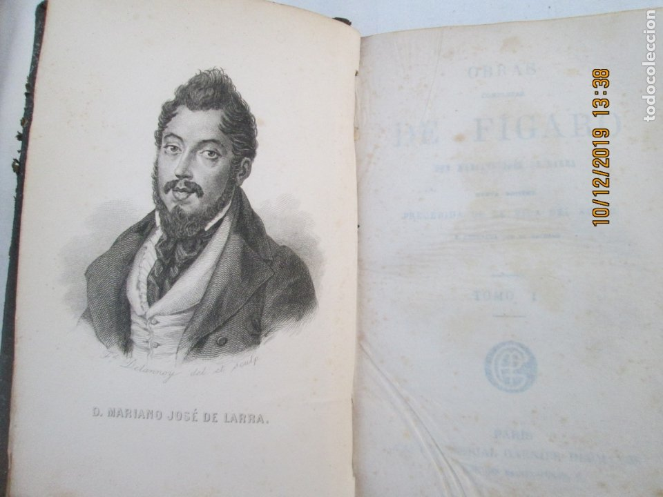 Libros antiguos: OBRAS COMPLETAS DE FÍGARO. D. MARIANO JOSÉ LARRA - TOMO I - PARIS 1843. - Foto 4 - 179206963