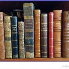 Libros antiguos: GRAN LOTE DE LIBROS DESDE EL SIGLO XVIII.. Lote 180280230