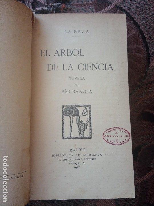 Libros antiguos: PÍO BAROJA - EL ÁRBOL DE LA CIENCIA (1911) [1ª EDICIÓN] - Foto 4 - 181132298