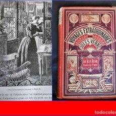 Libros antiguos: JULIO VERNE. VIAJES EXTRAORDINARIOS. FUERTE VOLUMEN ILUSTRADO DEL SIGLO XIX.. Lote 181464505