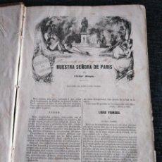 Libros antiguos: NUESTRA SEÑORA DE PARIS, VICTOR HUGO - QUENTIN DURWARD, SIR WALTER SCOTT (GASPAR Y ROIG, 1851). Lote 181506711