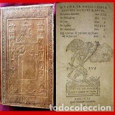 Libros antiguos: 1545. POST INCUNABLE. EXCELENTE ESTADO.TAPAS EN CUERO REPUJADO. RARISISMO (LEER). Lote 182037012