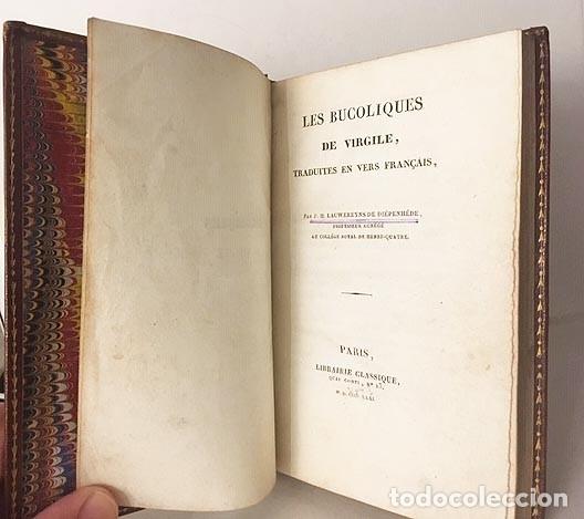Libros antiguos: Les Bucoliques de Virgile. (Bucólicas de Virgilio. P., 1831 Bilingüe Plena piel - Foto 2 - 182088043