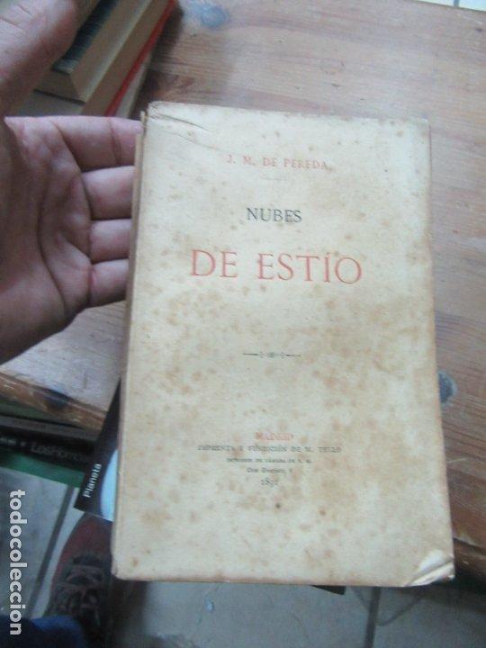 NUBES DE ESTÍO, J. M. DE PEREDA. (AÑO 1891). L.6922-590 (Libros antiguos (hasta 1936), raros y curiosos - Literatura - Narrativa - Clásicos)
