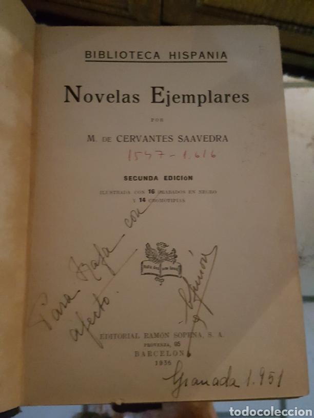 Libros antiguos: NOVELAS EJEMPLARES. MIGUEL DE CERVANTES - Foto 2 - 182306278