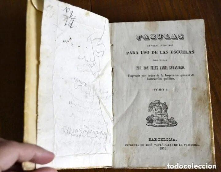 1846 FABULAS EN VERSO CASTELLANO FELIX MARIA SAMANIEGO 2 TOMOS EN 1 VOLUMEN (Libros antiguos (hasta 1936), raros y curiosos - Literatura - Narrativa - Clásicos)