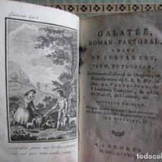 Libros antiguos: 1789-LA GALATEA. MIGUEL DE CERVANTES. CON 1 GRABADO. ORIGINAL. Lote 182417327