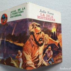 Libros antiguos: LA ISLA MISTERIOSA (JULIO VERNE) - MINI LIBRO - JOYAS DE LA LITERATURA UNIVERSAL. Lote 182803967