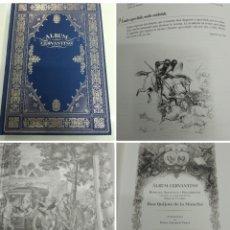 Libros antiguos: ALBUM CERVANTINO DON QUIJOTE DE LA MANCHA CERVANTES EDICIÓN BIBLIOFILIA TIRADA LIMITADA BBVA. Lote 183002545