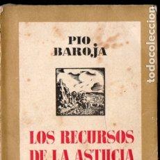 Libros antiguos: PÍO BAROJA : LOS RECURSOS DE LA ASTUCIA (ESPASA CALPE, 1937). Lote 183264776