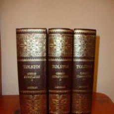 Libros antiguos: OBRAS COMPLETAS, I, II Y III - LEV TOLSTOI - AGUILAR, MUY BUEN ESTADO. Lote 183334717