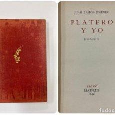 Libros antiguos: PLATERO Y YO (1907-1916). JUAN RAMON JIMENEZ. EDITORIAL SIGNO. MADRID, 1934. PAGS: 318. Lote 183379435
