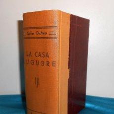 Libros antiguos: CARLOS DICKENS: LA CASA LÚGUBRE / ENCUADERNADOS 3 EN 1 TOMO - TORIBIO TABERNIER, S/F. Lote 183504561