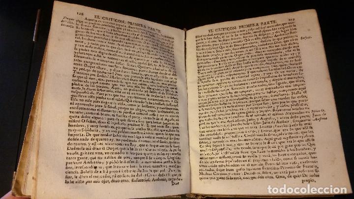 Libros antiguos: 1734 - LORENZO GRACIÁN - OBRAS: El Criticon, El Oráculo, Héroe - Foto 5 - 183682635