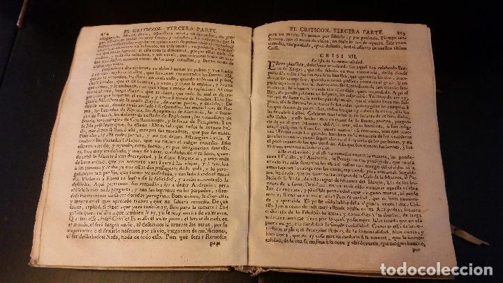Libros antiguos: 1734 - LORENZO GRACIÁN - OBRAS: El Criticon, El Oráculo, Héroe - Foto 8 - 183682635