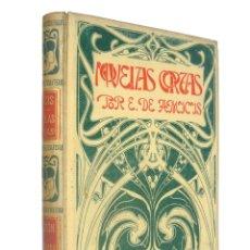 Libros antiguos: 1900 - EDMUNDO DE AMICIS: NOVELAS CORTAS - PERGAMINO MODERNISTA ILUSTRADO - GRABADOS - SIGLO XIX. Lote 183823468