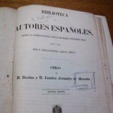 Libros antiguos: OBRAS DE MORATÍN [BIBLIOTECA DE AUTORES ESPAÑOLES] /// ARIBAU /// RIVADENEYRA /// 1848. Lote 183865428