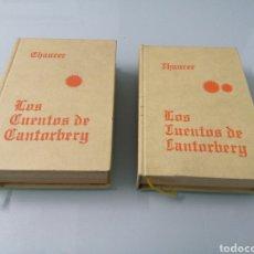Libros antiguos: LOS CUENTOS DE CANTORBERY. CHAUCER. DOS TOMOS. 1921. ED. REUS. MAGNÍFICA EDICIÓN.. Lote 183983385