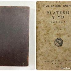 Libros antiguos: PLATERO Y YO. OBRAS DE JUAN RAMÓN JIMÉNEZ.(1907-1916). 1ª ED. COMPLETA. CASA EDITORIAL CALLEJA. 1917. Lote 183984262