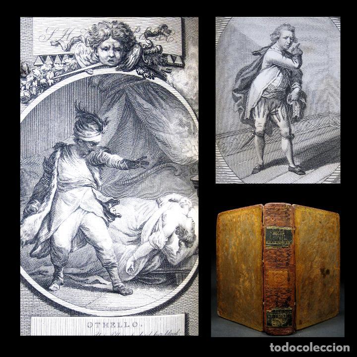 AÑO 1788 SHAKESPEARE OTELO TROILO Y CRÉSIDA 4 GRABADOS A PLENA PÁGINA 2 OBRAS EN UN VOLÚMEN OTHELLO (Libros antiguos (hasta 1936), raros y curiosos - Literatura - Narrativa - Clásicos)