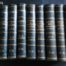 Libros antiguos: EPISODIOS NACIONALES PÉREZ GALDÓS - SERIE 1 Y 2 - EMPRENTA LA GUIRNALDA - 1882 Y 1885. Lote 184685656