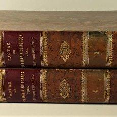 Libros antiguos: CARTAS DE LA VENERABLE MADRE SOR MARÍA DE AGREDA. 2 TOMOS. F. SILVELA. 1885/86.. Lote 184694028