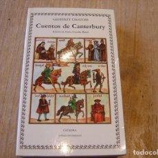 Libros antiguos: CUENTOS DE CANTERBURY. EDICIÓN DE PEDRO GUARDIA MASSÓ. ED. CÁTEDRA. 1999. Lote 184550078