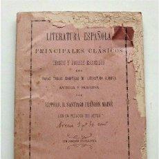 Libros antiguos: LITERATURA ESPAÑOLA. PRINCIPALES CLÁSICOS. TROZOS Y VERSOS ESCOGIDOS. SANTIAGO FRANZÓN. CÁDIZ, 1918. Lote 186240968