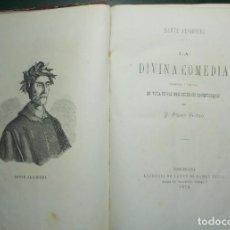 Libros antiguos: AÑO 1870. DANTE. LA DIVINA COMEDIA. CON GRABADOS.. Lote 187401465