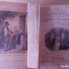 Libros antiguos: LAS JOVENES OBRERAS O SEA TRABAJOS Y RECOMPENSAS, AÑO 1.862. Lote 187426610