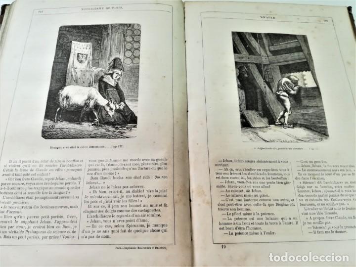 Libros antiguos: LIBRO,NOTRE DAME DE PARIS,DE VICTOR HUGO,SIGLO XIX, AÑO 1865,EL JOROBADO,NOVELA GOTICA CLASICA - Foto 12 - 189176180