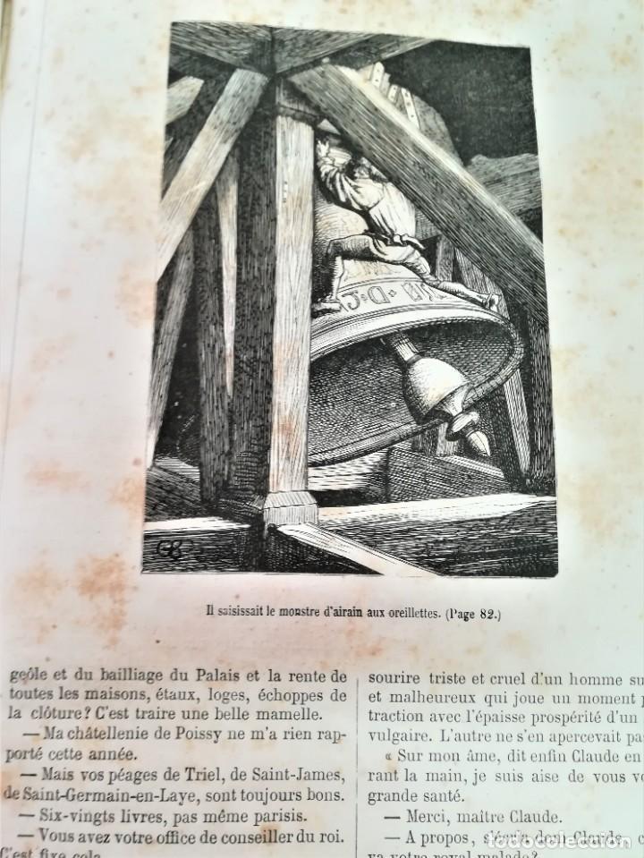 Libros antiguos: LIBRO,NOTRE DAME DE PARIS,DE VICTOR HUGO,SIGLO XIX, AÑO 1865,EL JOROBADO,NOVELA GOTICA CLASICA - Foto 15 - 189176180