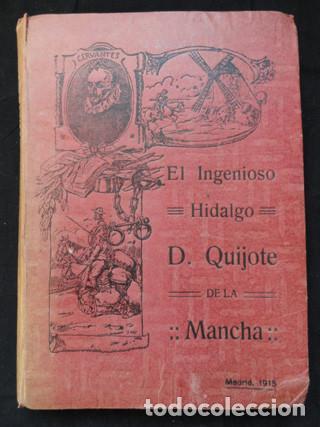 EL INGENIOSO HIDALGO D. QUIJOTE DE LA MANCHA. EDICIÓN ALEU - MADRID, 1915 (Libros antiguos (hasta 1936), raros y curiosos - Literatura - Narrativa - Clásicos)