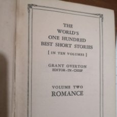 Libros antiguos: THE WORLD'S ONE HUNDRED BEST SHORT STORIES 1927. Lote 189522247