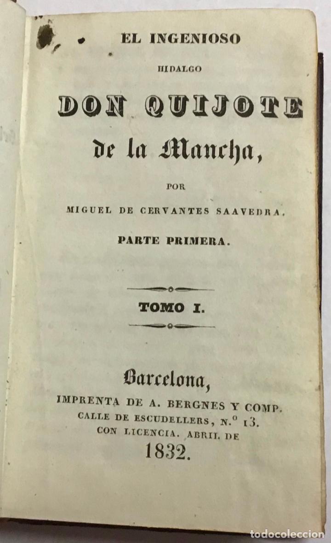 Libros antiguos: CERVANTES SAAVEDRA, Miguel de. EL INGENIOSO HIDALGO DON QUIJOTE DE LA MANCHA. 1832 6 TOMOS. GRABADOS - Foto 2 - 189554107