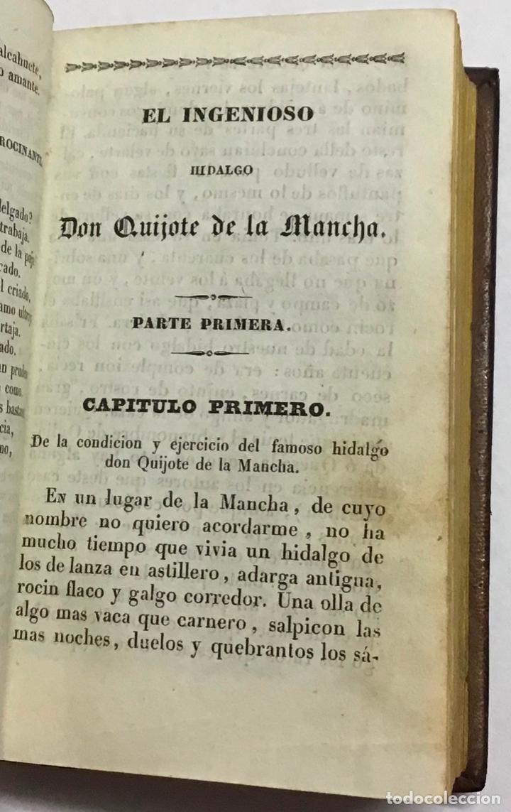 Libros antiguos: CERVANTES SAAVEDRA, Miguel de. EL INGENIOSO HIDALGO DON QUIJOTE DE LA MANCHA. 1832 6 TOMOS. GRABADOS - Foto 3 - 189554107